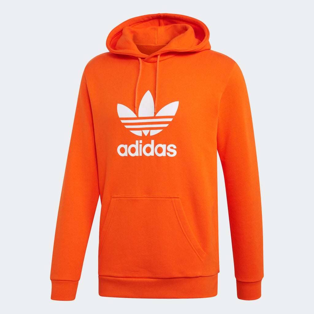 Men's adidas Originals Trefoil Hoodie Orange