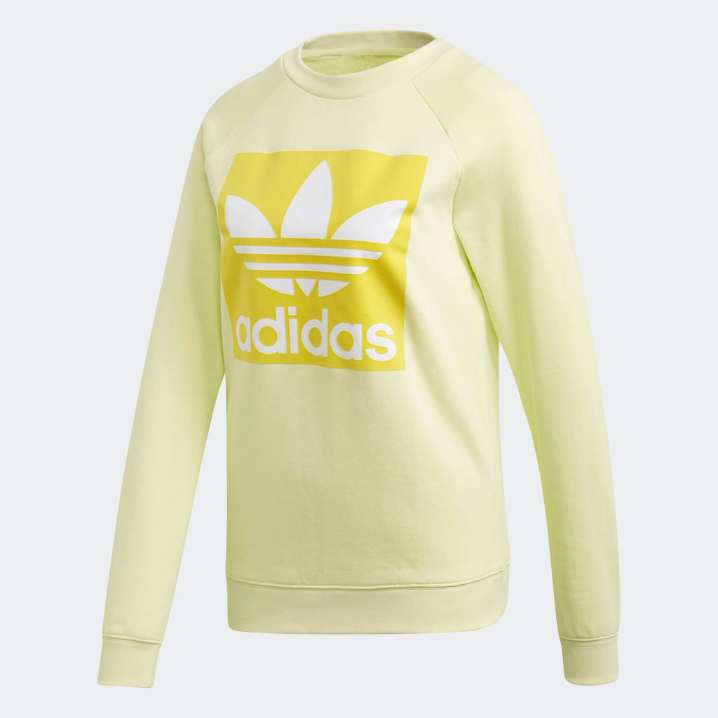Women's adidas Originals Trefoil Sweatshirt Ice Yellow
