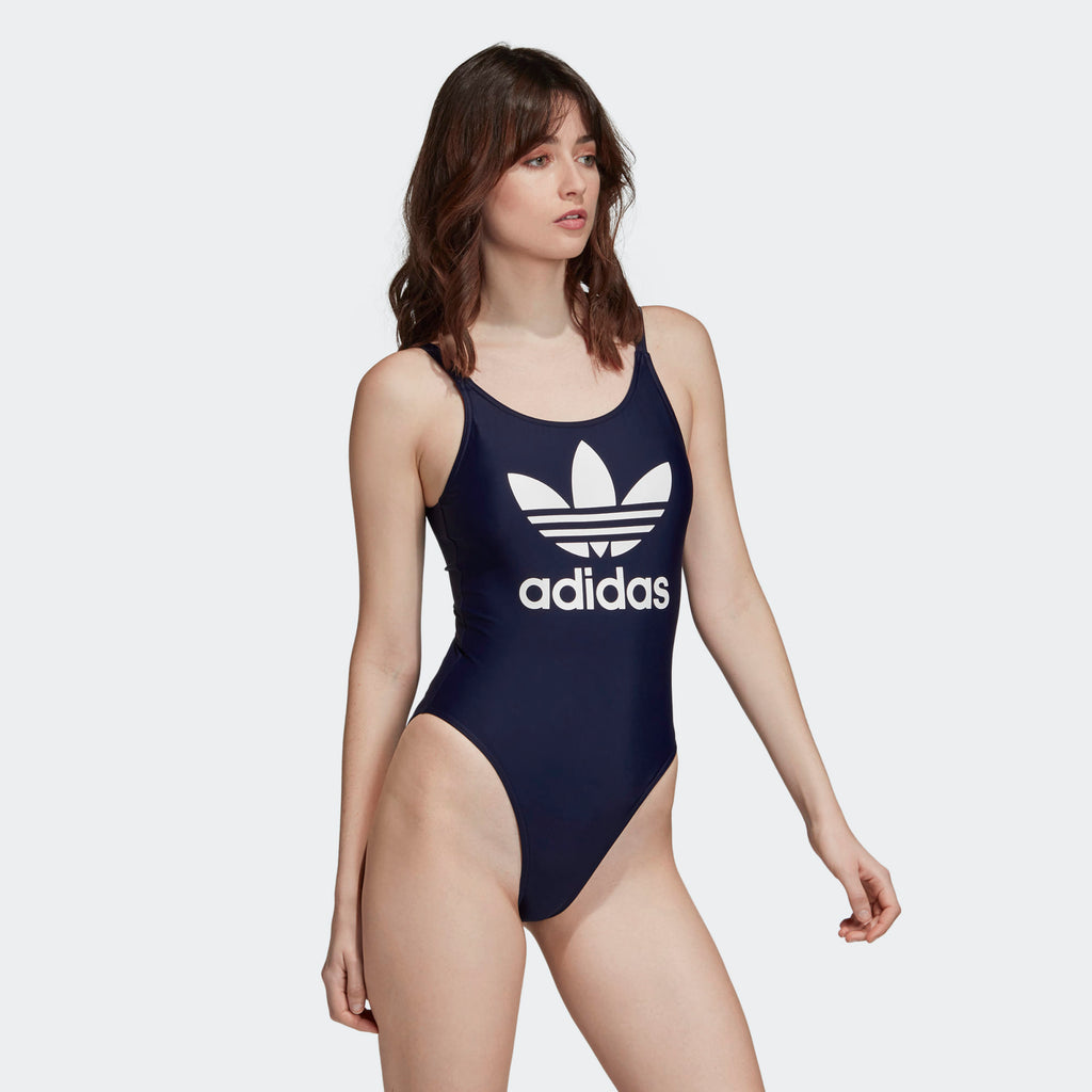 Women's adidas Originals Trefoil Swimsuit Collegiate Navy
