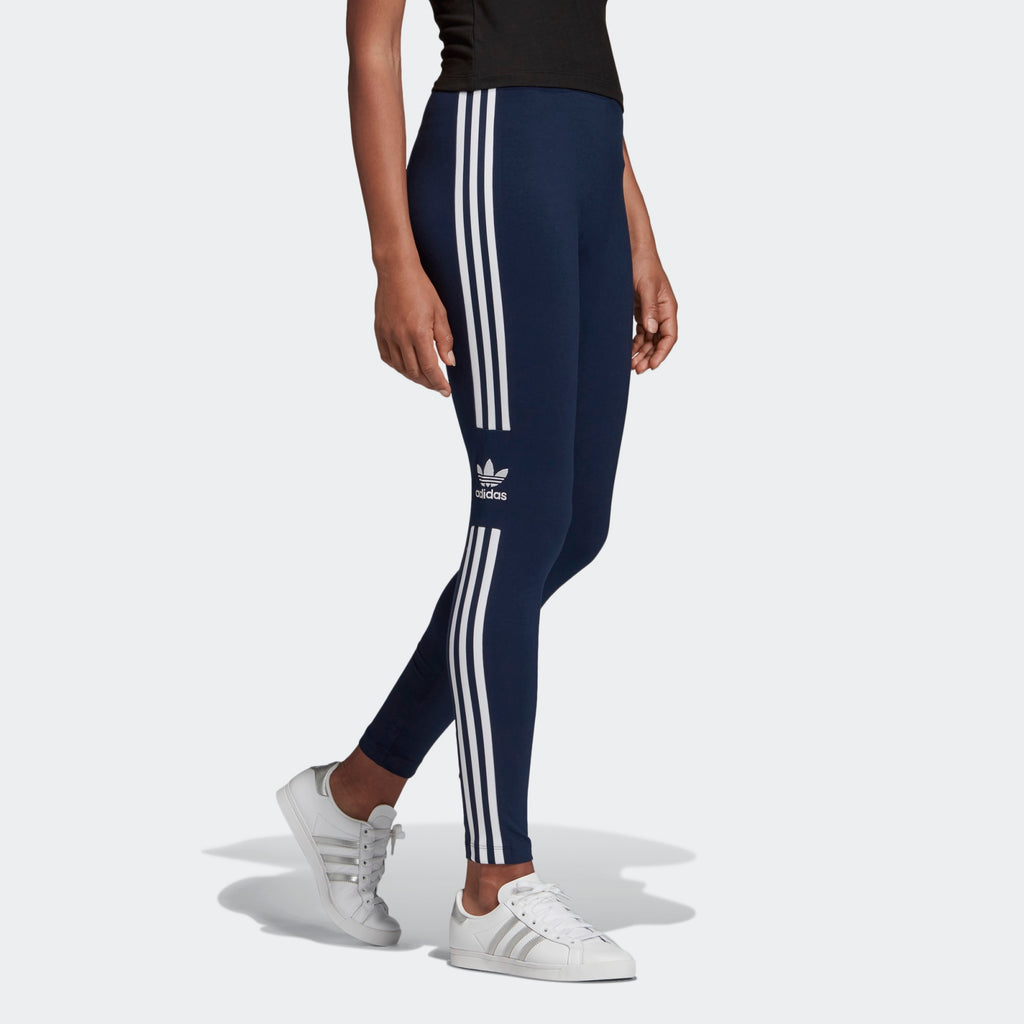 Women's adidas Originals Trefoil Leggings Collegiate Navy