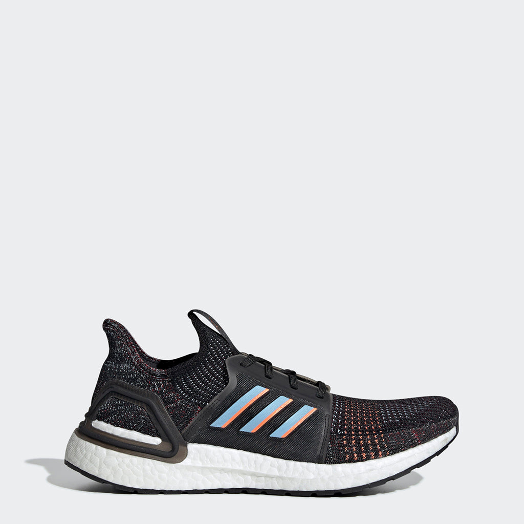 Men's adidas Running Ultraboost 19 Shoes Black Glow Blue