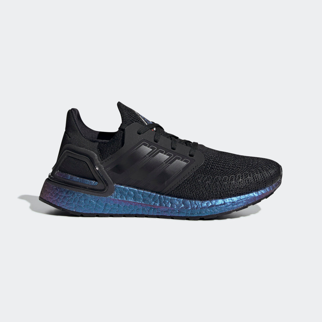Kid's adidas Running Ultraboost 20 Shoes Black Blue Violet Met