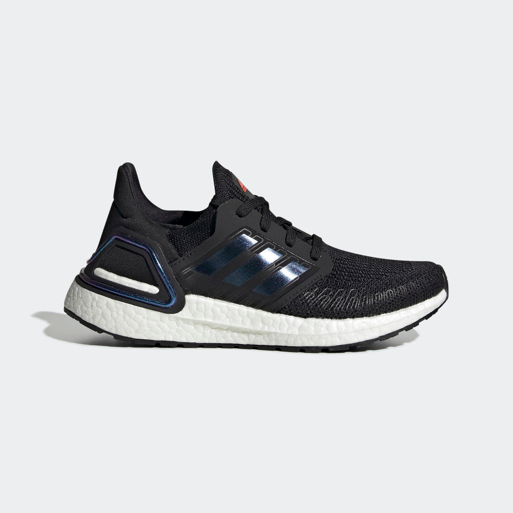 Kid's adidas Running Ultraboost 20 Shoes Black Blue Violet Met White