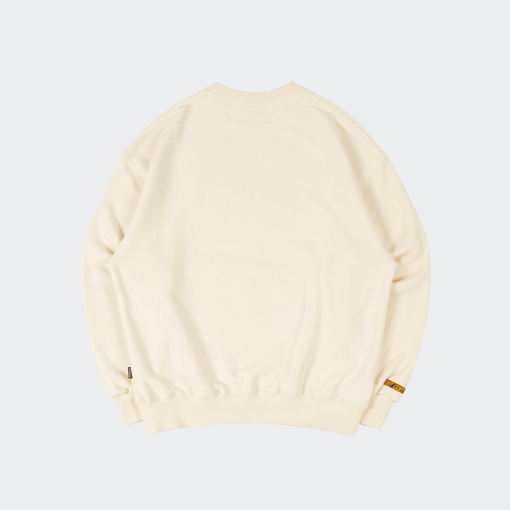 Unisex Romantic Crown Logo Sweatshirt Cream