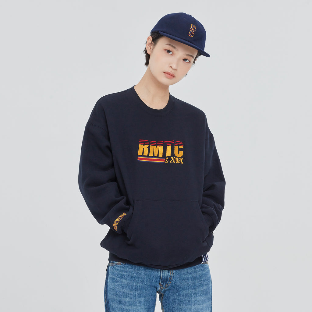 Unisex Romantic Crown RMTC Logo Pocket Sweatshirt Navy