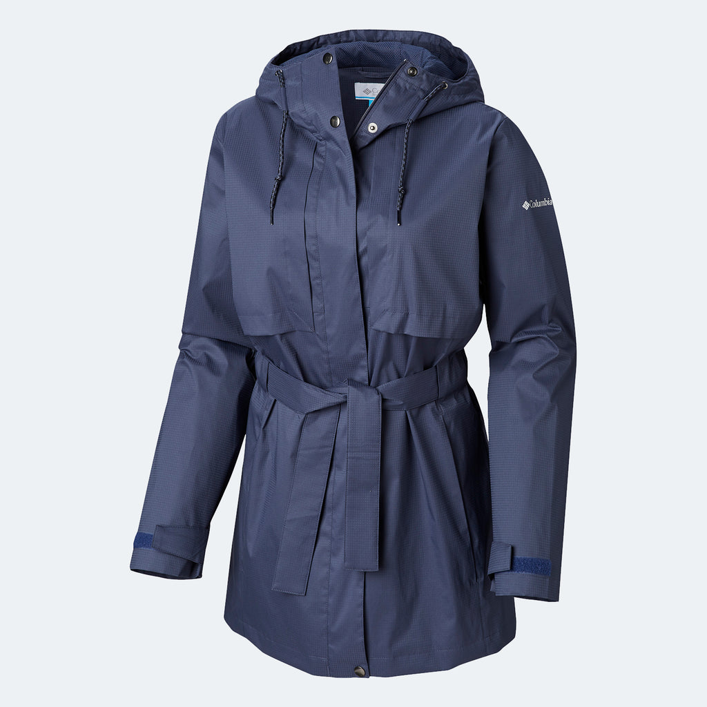 Women's Columbia Pardon My Trench Rain Jacket Nocturnal