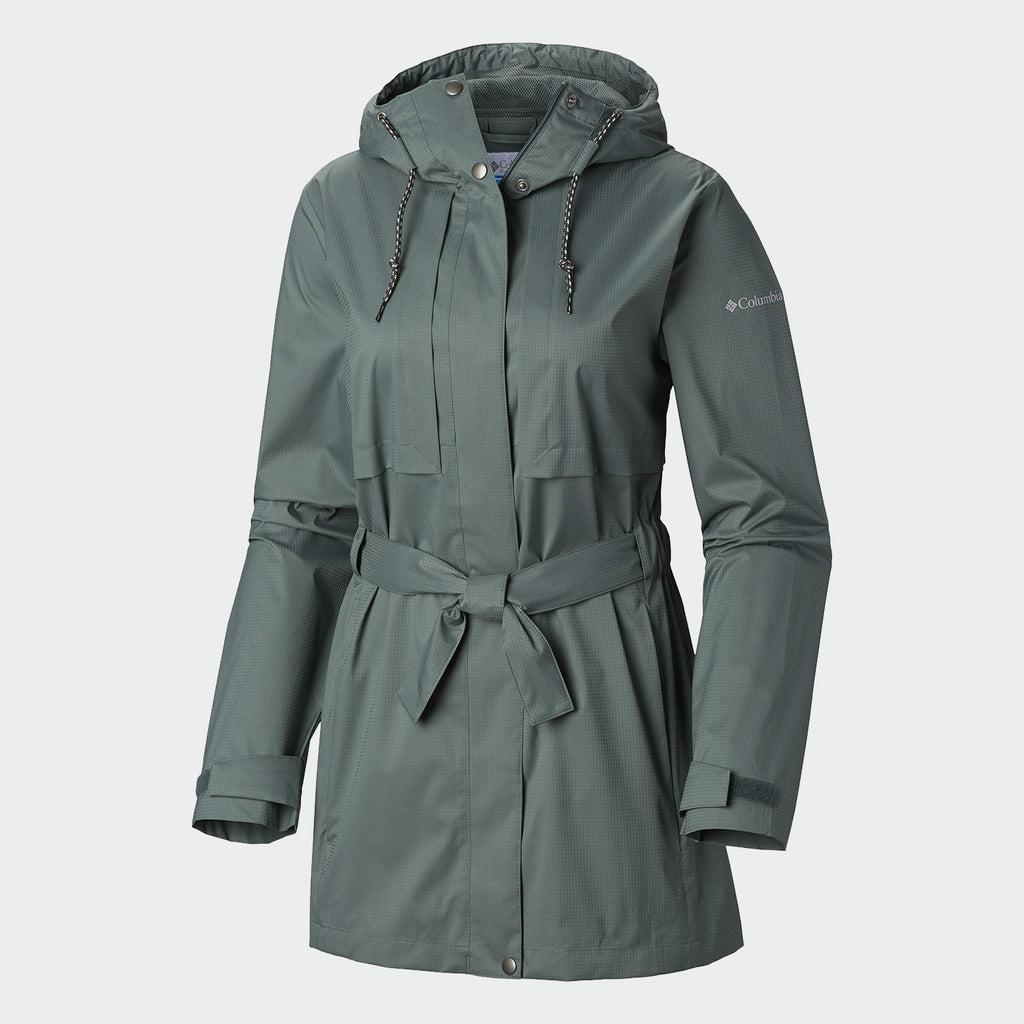 Women's Columbia Pardon My Trench Rain Jacket Pond