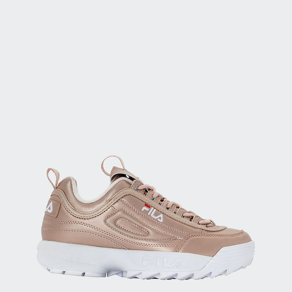 Women's FILA Disruptor 2 Premium Shoes Metallic Rose Gold