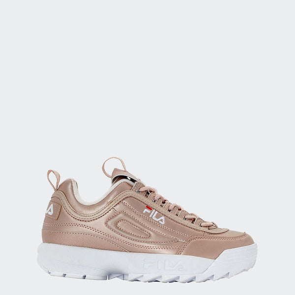 Women's FILA Disruptor 2 Premium Shoes Metallic Rose Gold 6 GOLD