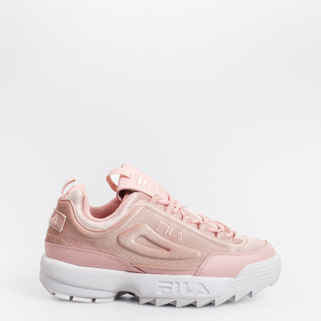 Women's FILA Disruptor 2 Premium Velour Shoes Pink