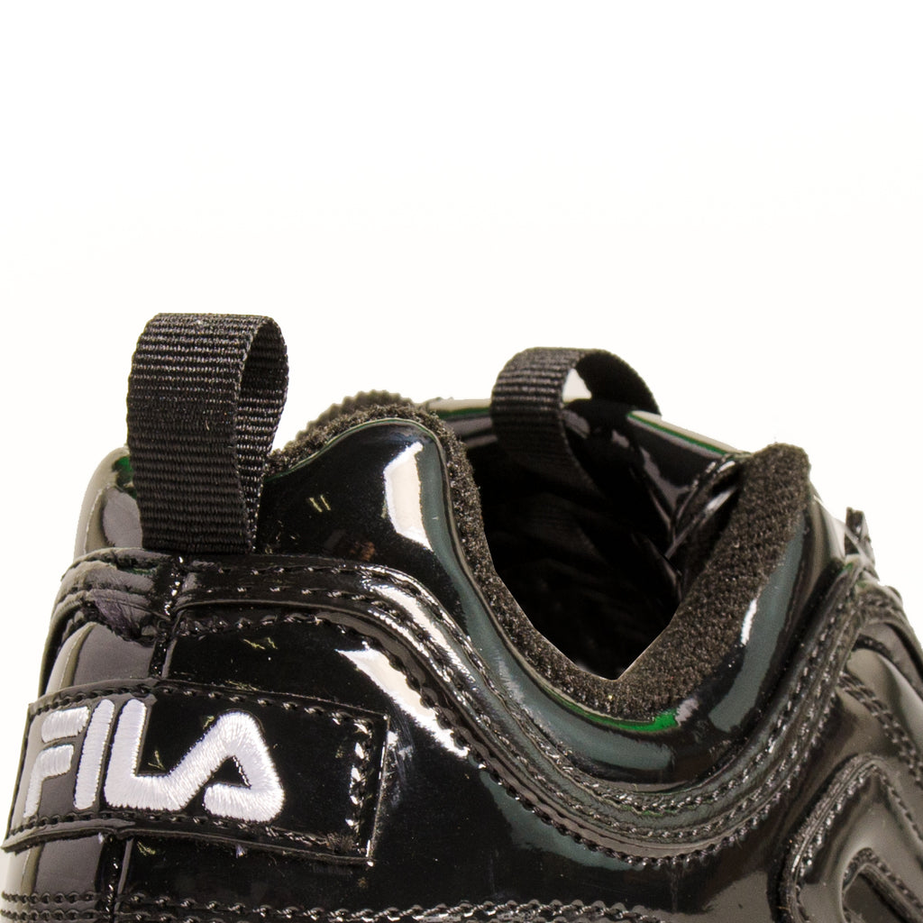 Women's FILA Disruptor 2 Premium Patent Shoes Black