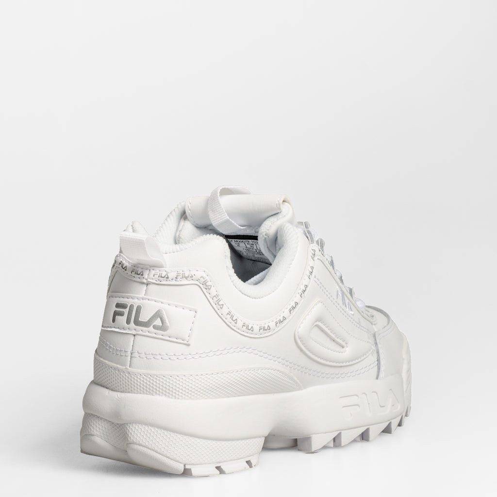 Women's FILA Disruptor 2 Premium Repeat Shoes White