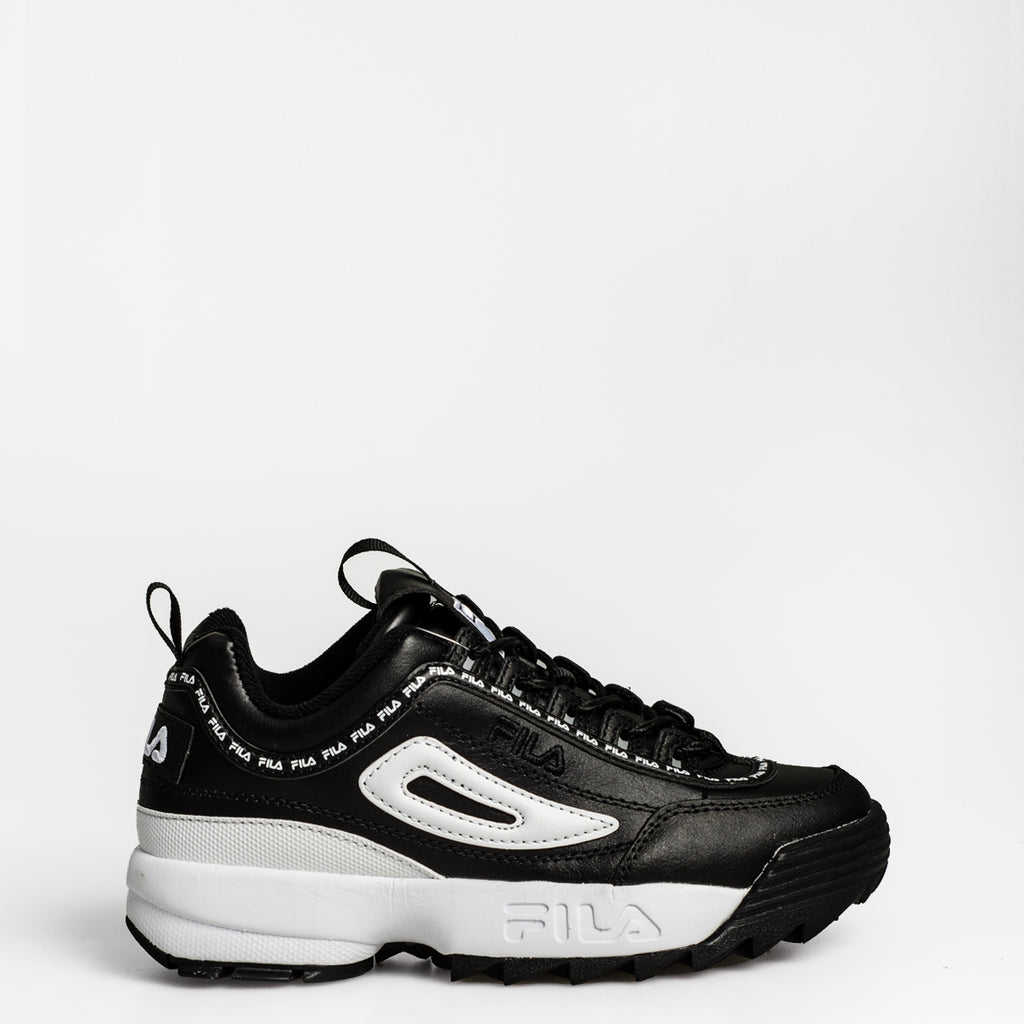 Women's FILA Disruptor 2 Premium Repeat Shoes Black