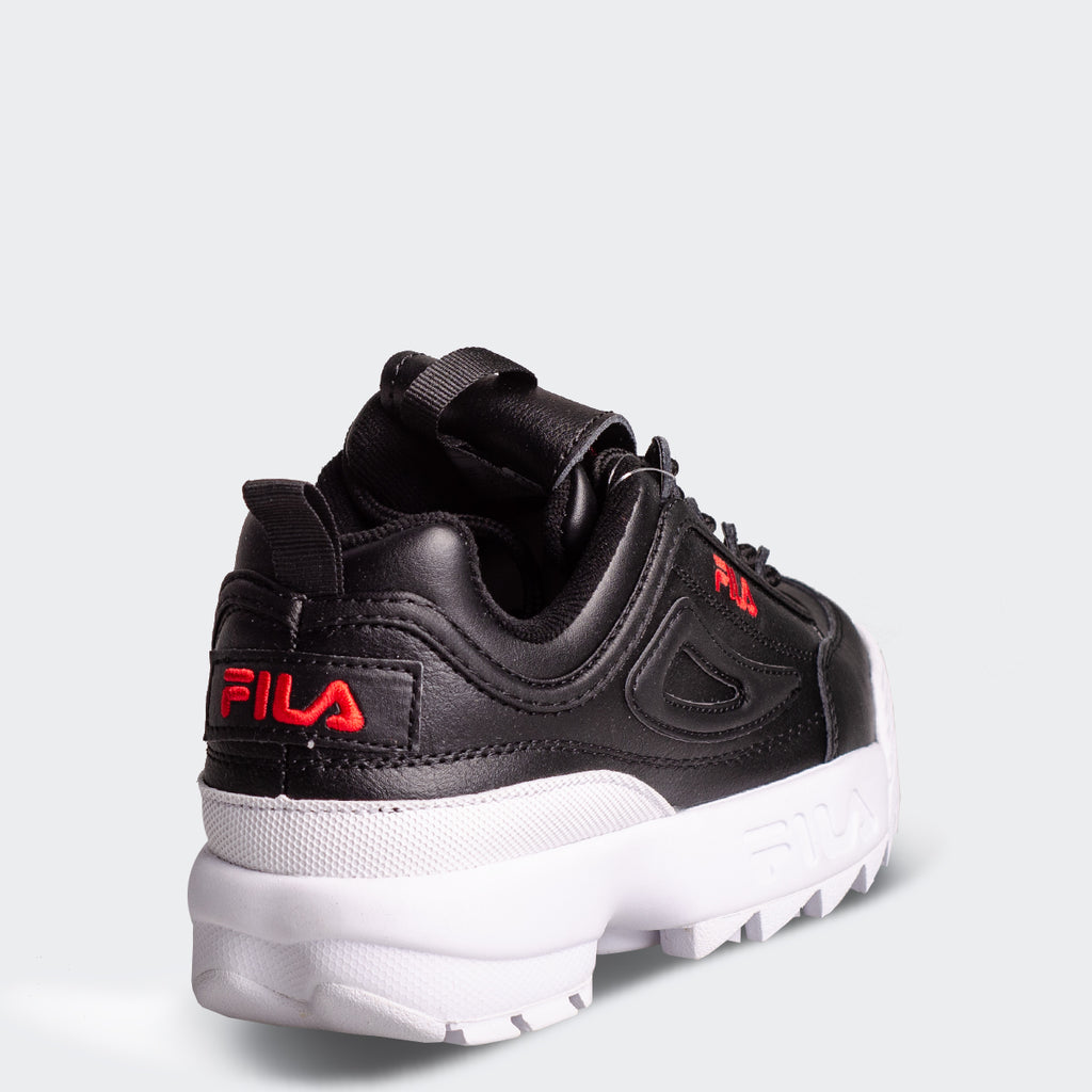 Women's FILA Disruptor 2 Premium Black Red