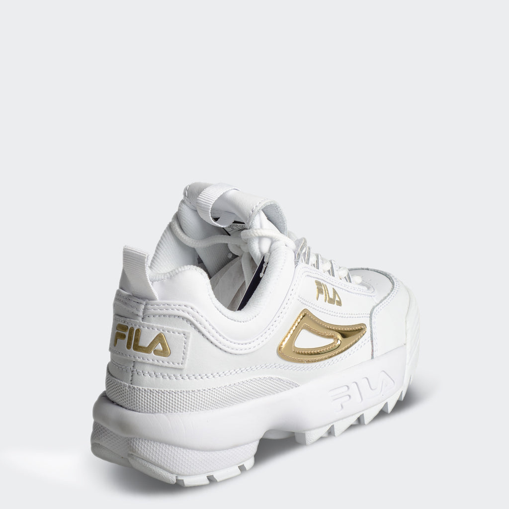 Women's FILA Disruptor 2 Metallic Accent Gold
