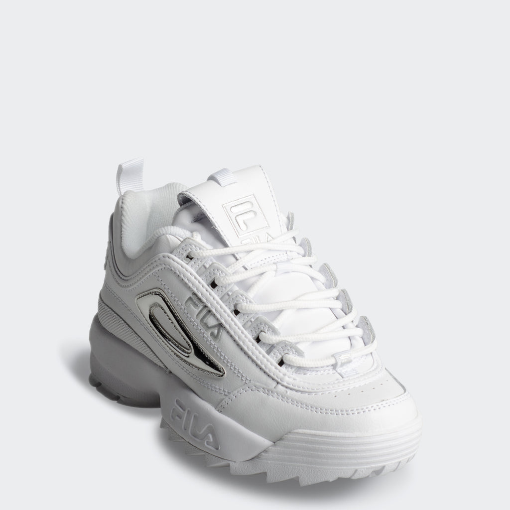 Women's FILA Disruptor 2 Shoes Metallic Accent Silver