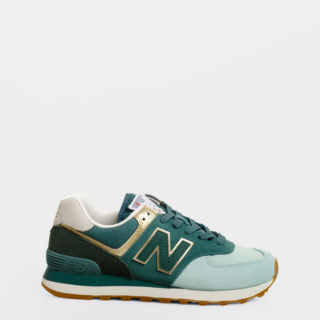 Women's New Balance 574 Metallic Patch Agave