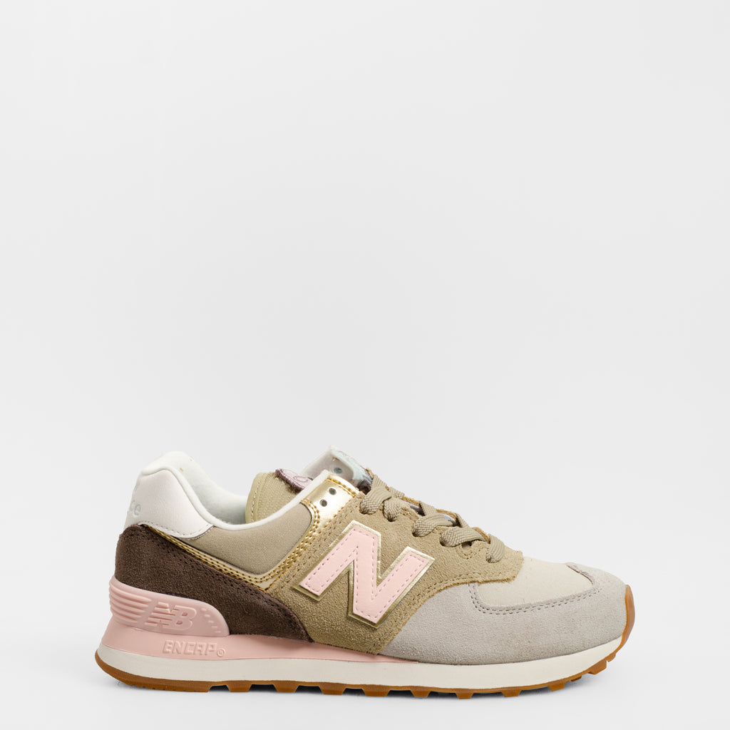 Women's New Balance 574 Metallic Patch Grey