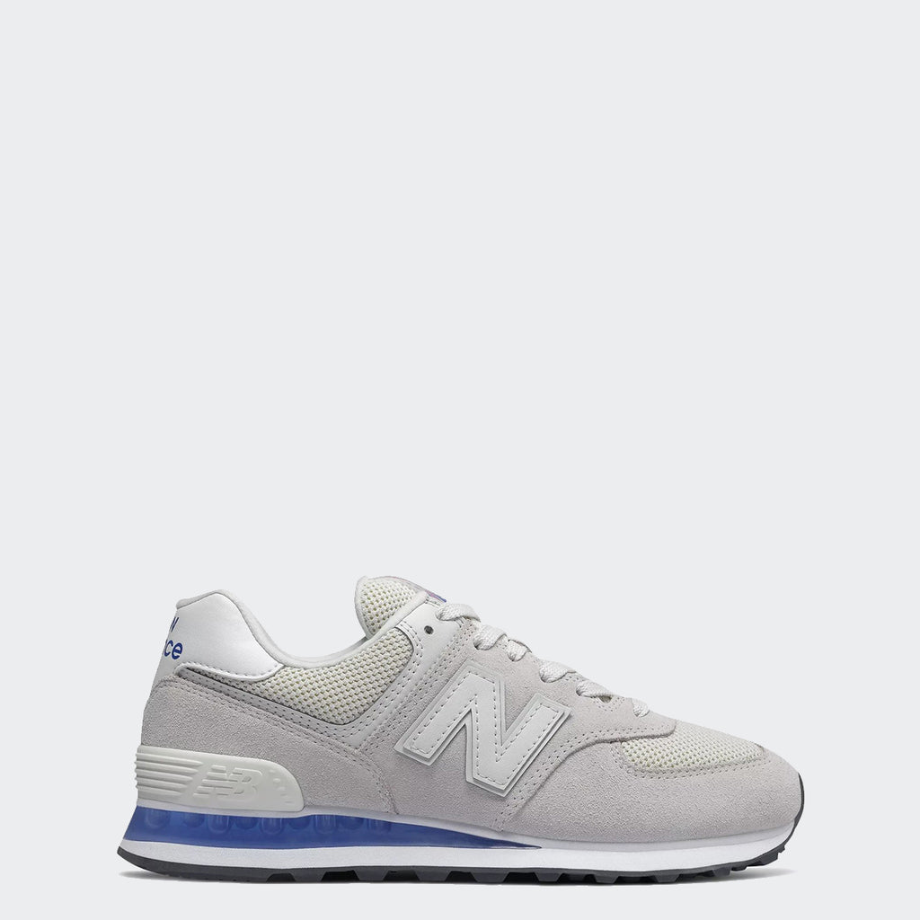 Women's New Balance 574 Shoes White UV Blue