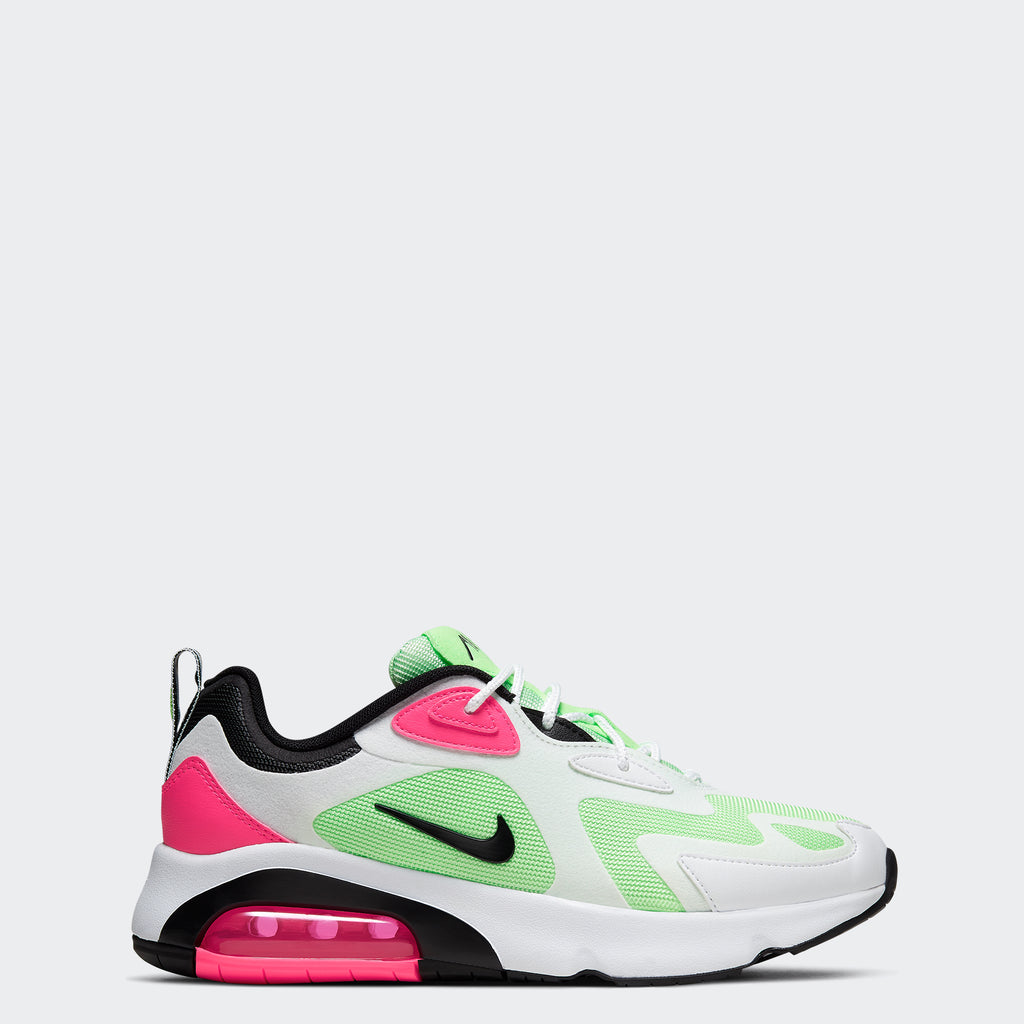 Women's Nike Air Max 200 Shoes White/Hyper Pink/Vapor Green/Black (SKU CJ0629-100) | Chicago City Sports | side view
