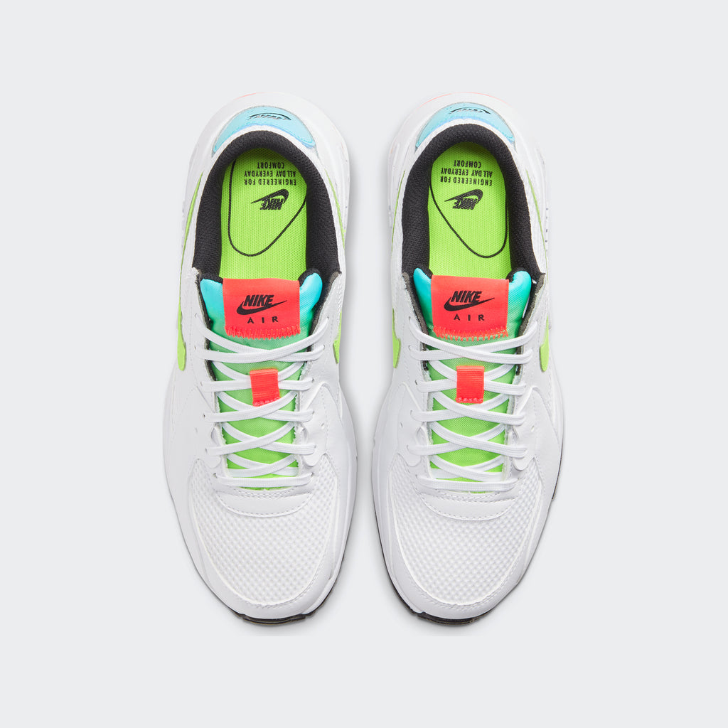 Women's Nike Air Max Excee Shoes White (SKU CW5606-100) | Chicago City Sports | top view