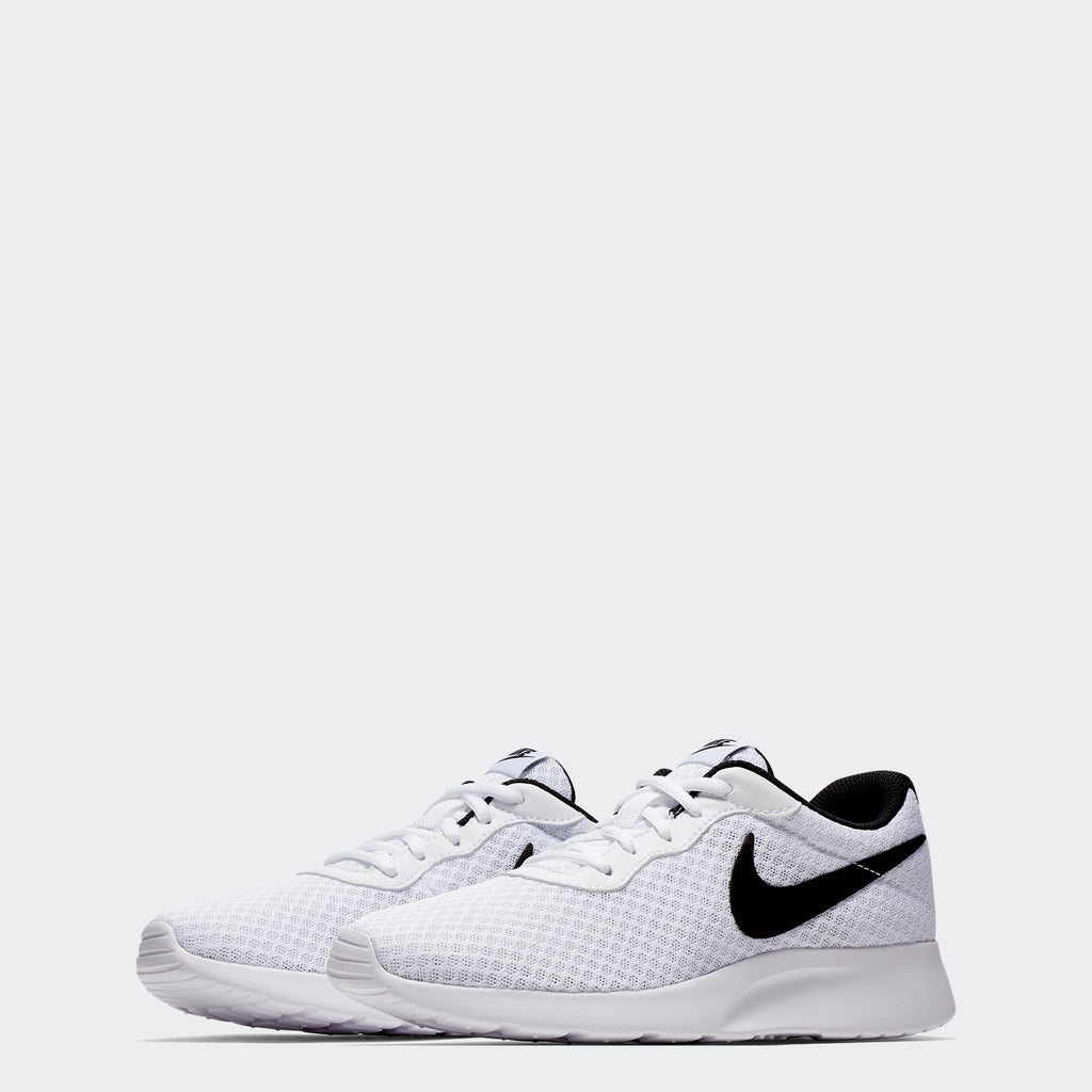 Women's Nike Tanjun Shoes White Black