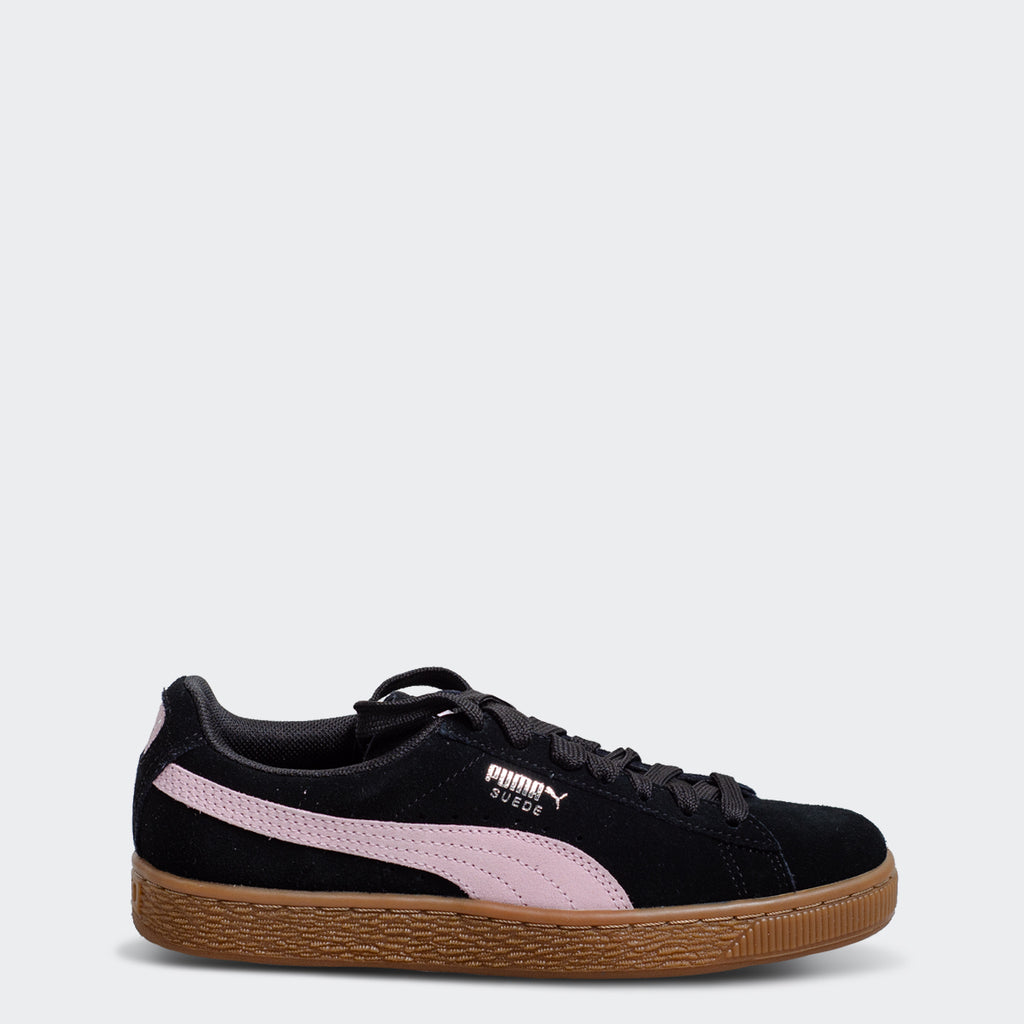 cheap for discount 9e969 7de2a Women s PUMA Suede Classic Sneakers Black Pale Pink