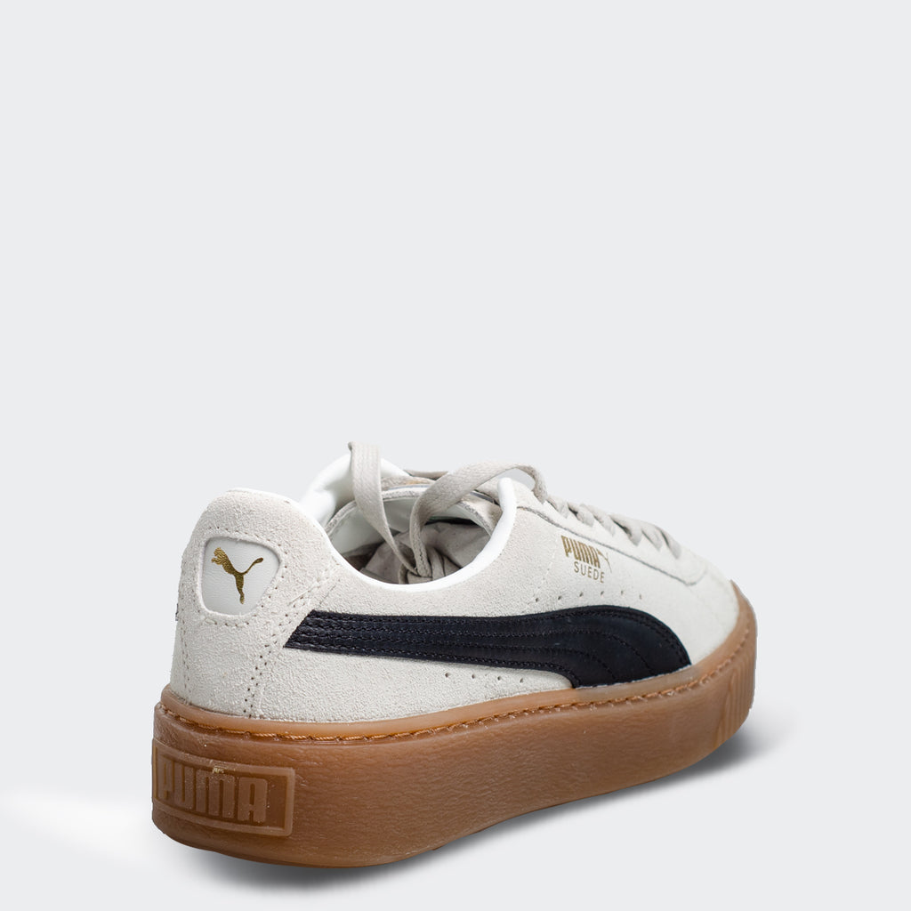 Women's PUMA Suede Platform Shoes Whisper White