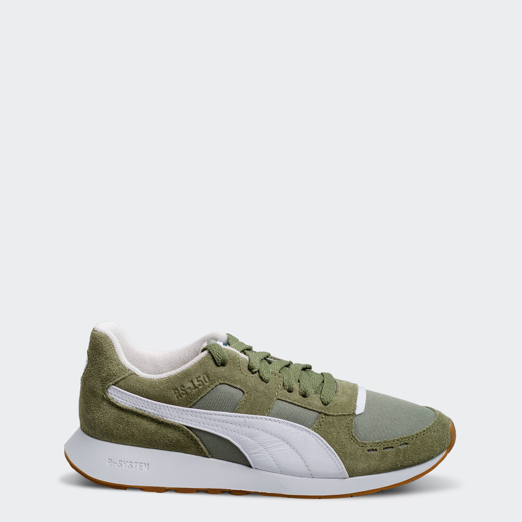 Women's PUMA RS-150 Nylon Sneakers Olivine