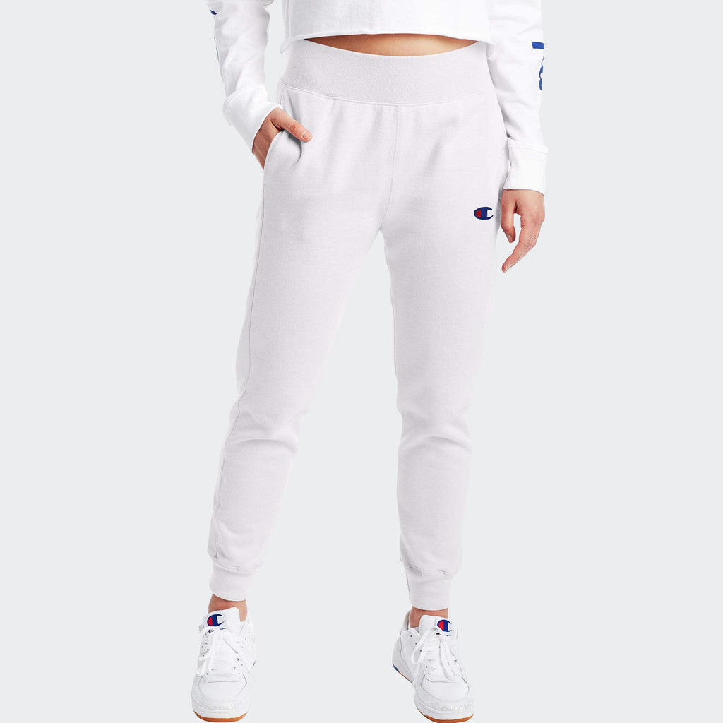 Women's Champion Reverse Weave Joggers White