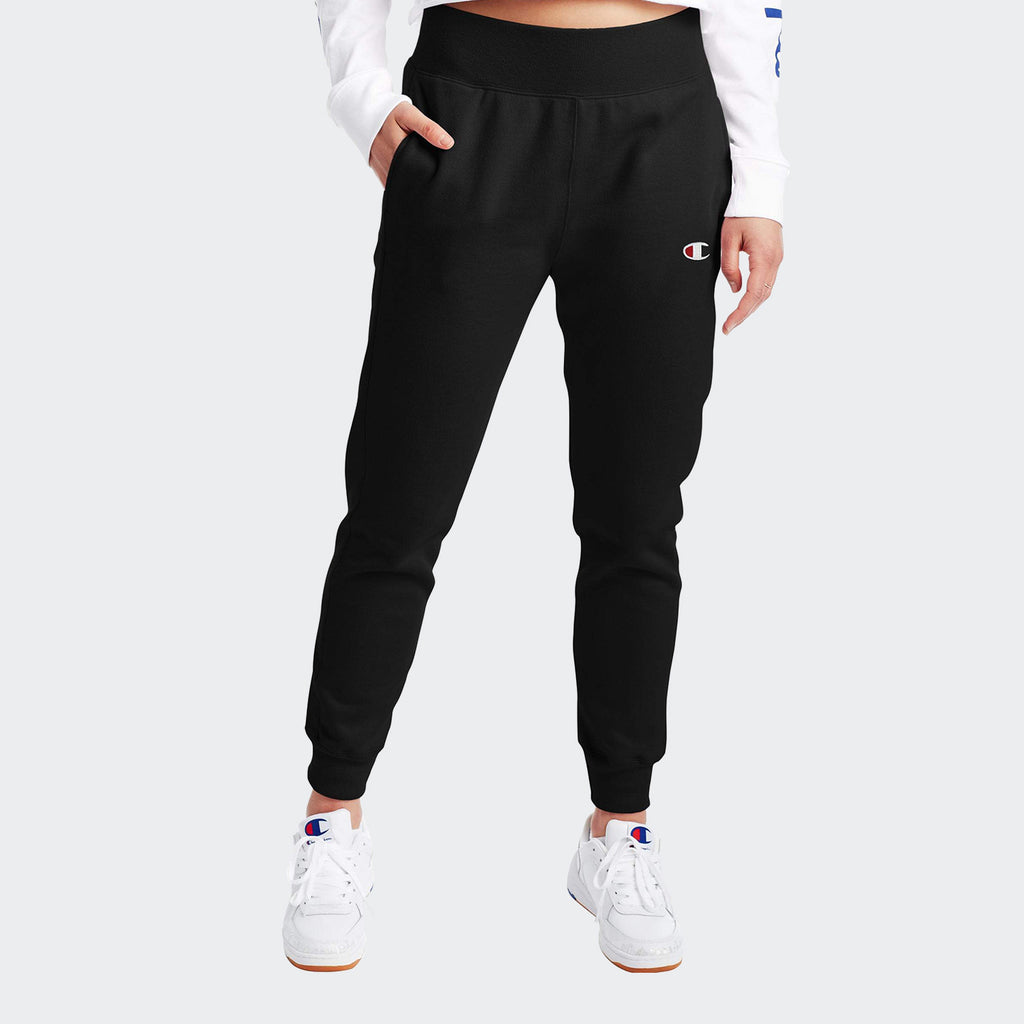 Women's Champion Reverse Weave Joggers Black | Chicago City Sports | front view