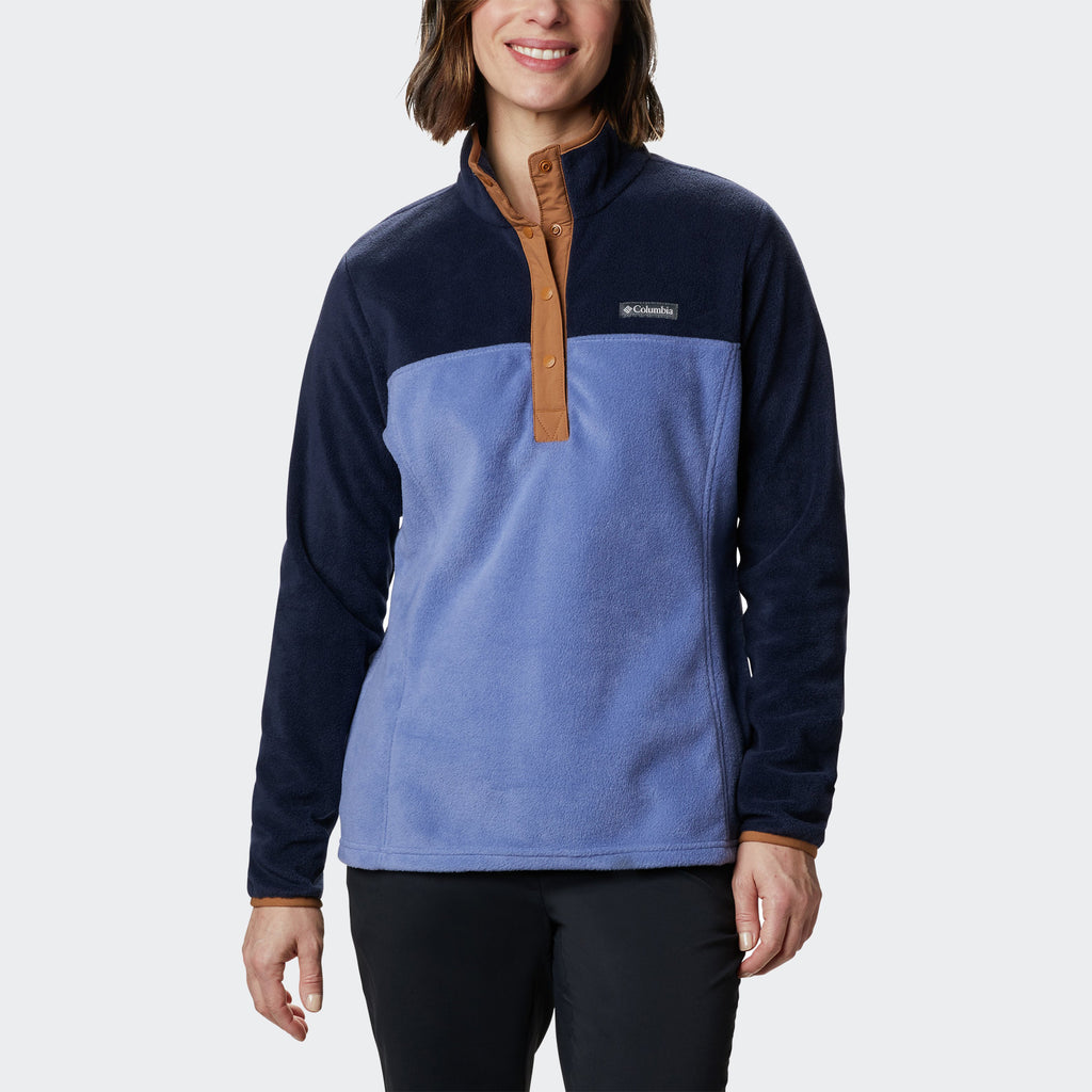 Women's Columbia Benton Springs Half Snap Pullover Dark Nocturnal