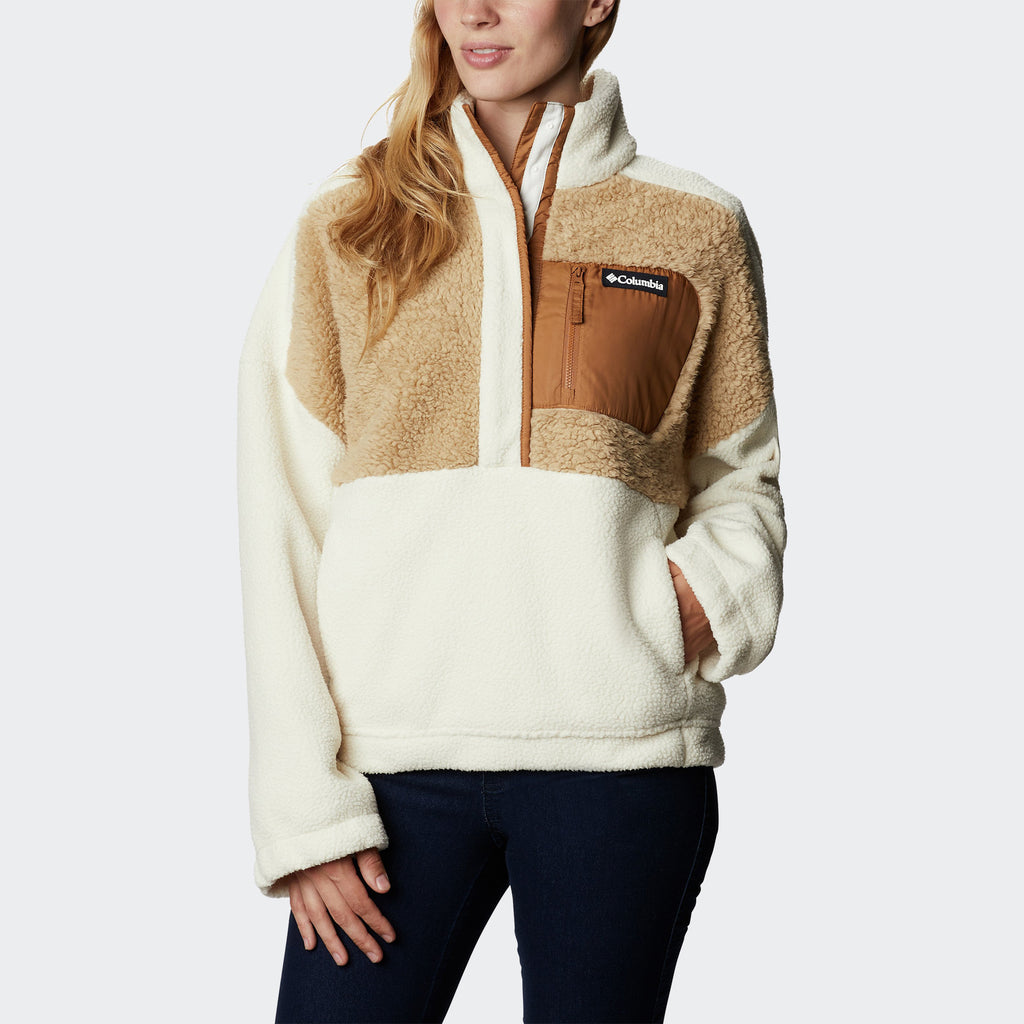 Women's Columbia Lodge Sherpa Pullover Chalk