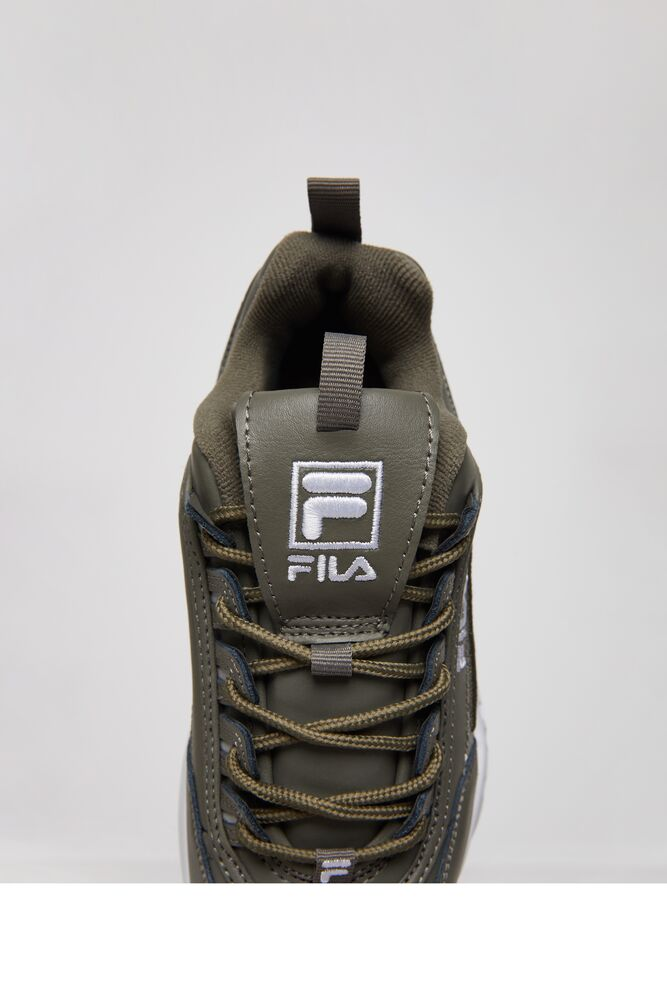Women's FILA Disruptor 2 3D Embroidery Shoes Dusty Olive