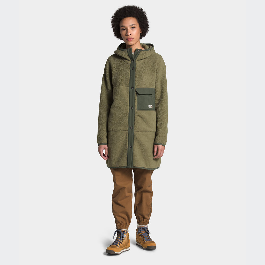Women's The North Face Cragmont Fleece Coat Burnt Olive Green