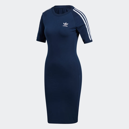 Women's Adidas Originals 3-Stripes Dress Navy/ White