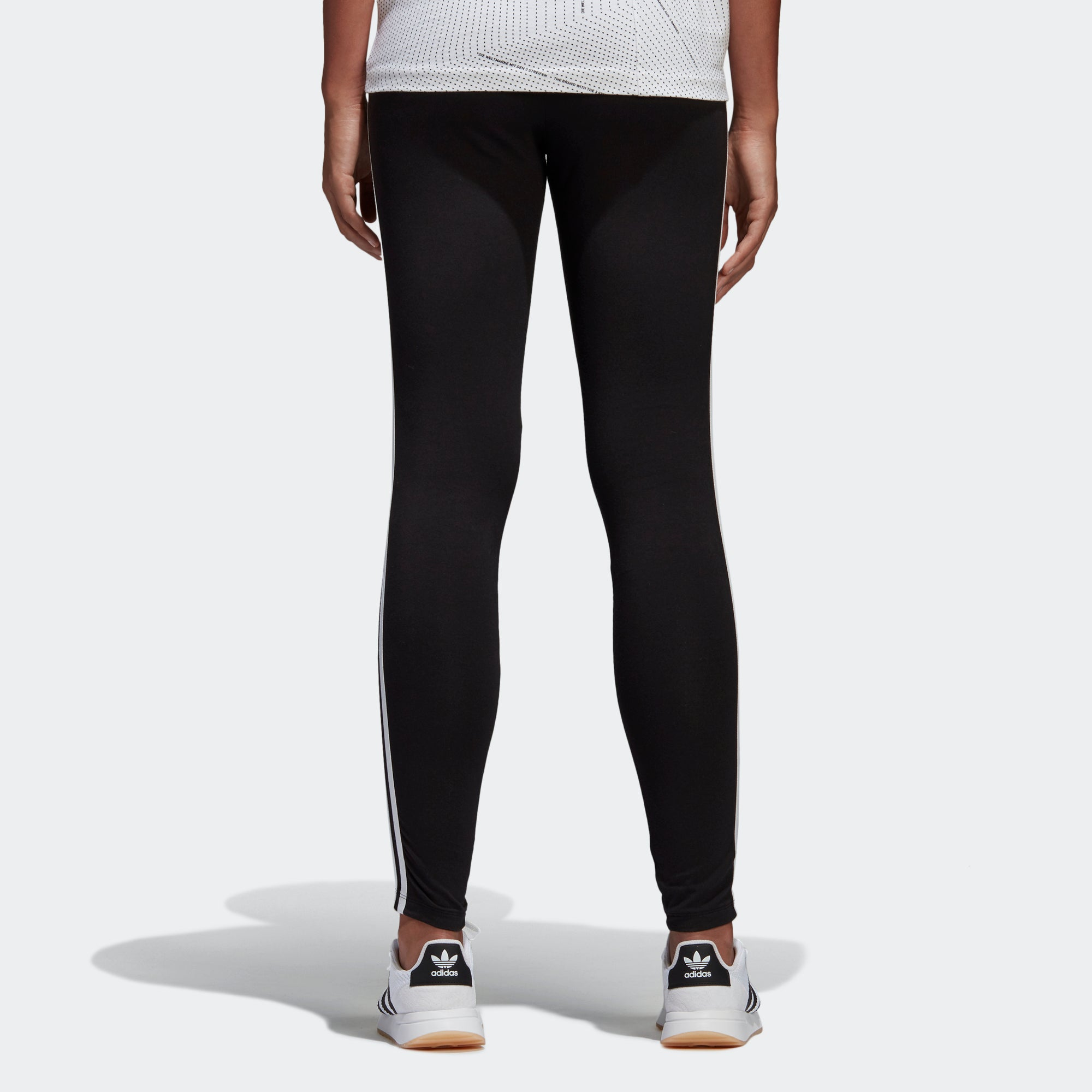 cb839af6187a Women s adidas Originals 3-Stripes Leggings Black  White. 1