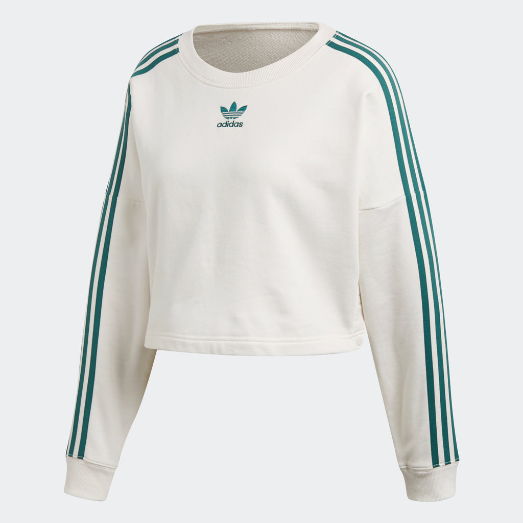 Women's adidas Originals Adibreak Cropped Sweater Chalk White