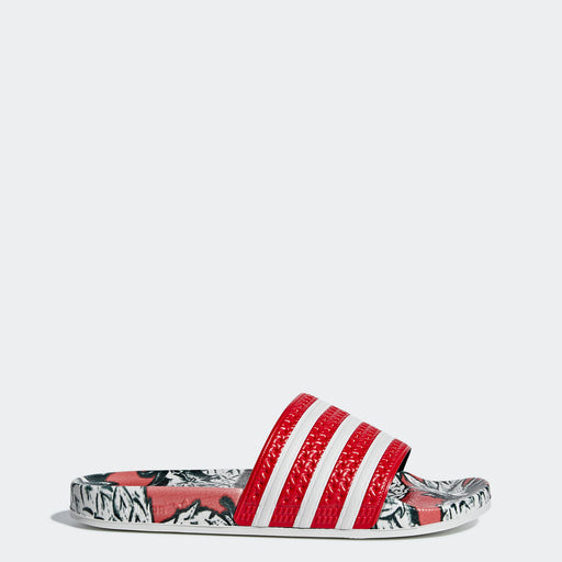 Women's Adidas Originals Adilette Slides Scarlet Red