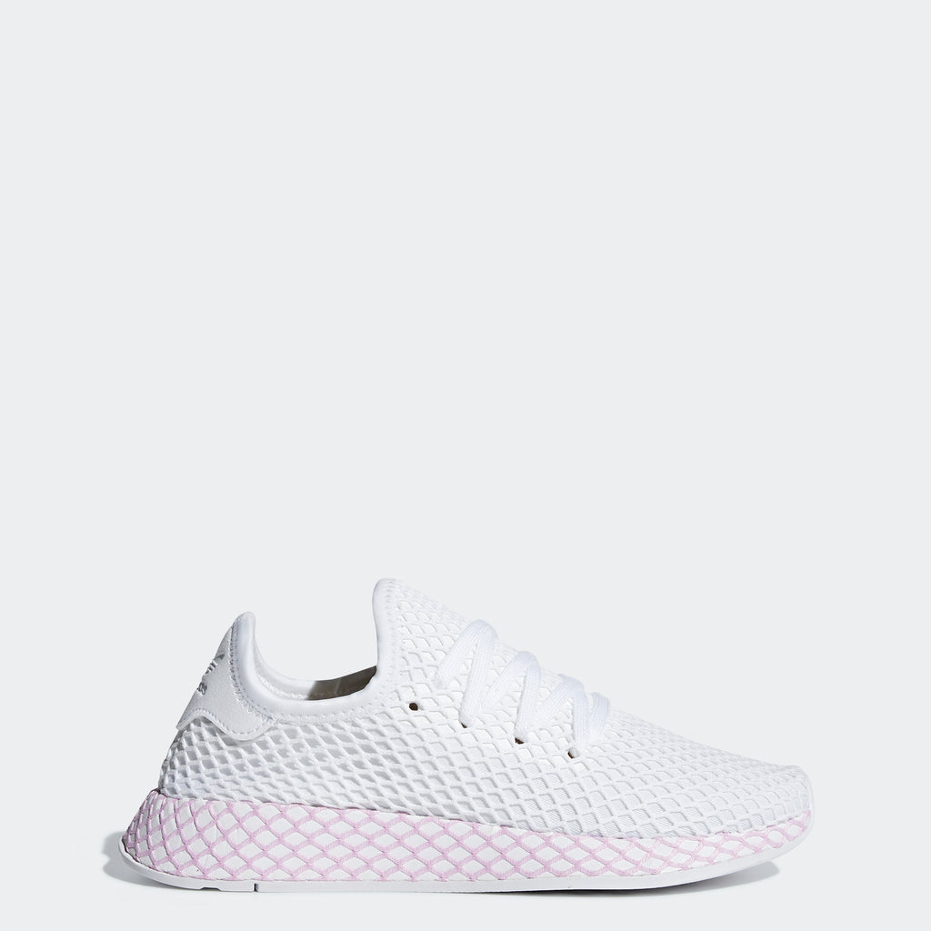 Women's adidas Originals Deerupt Runner Shoes Cloud White Lilac