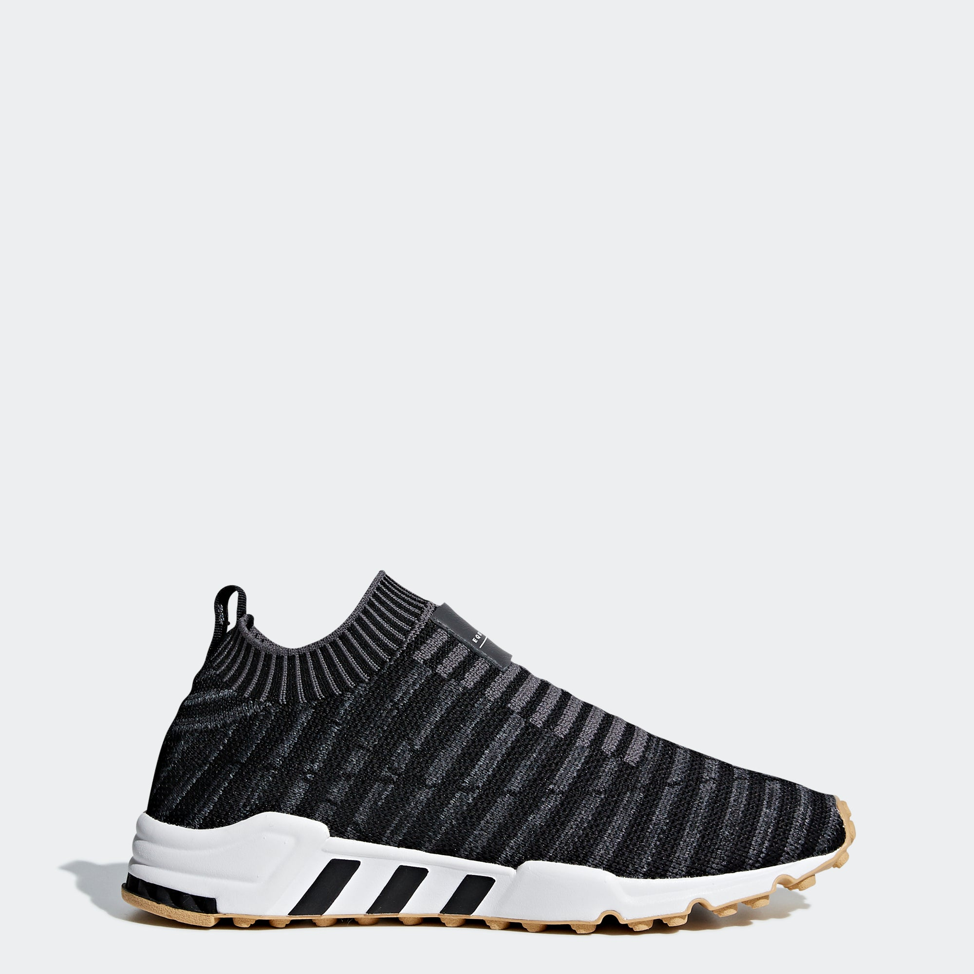 premium selection b0305 49a87 Womens Adidas Originals EQT Support Sock Primeknit Shoes Black