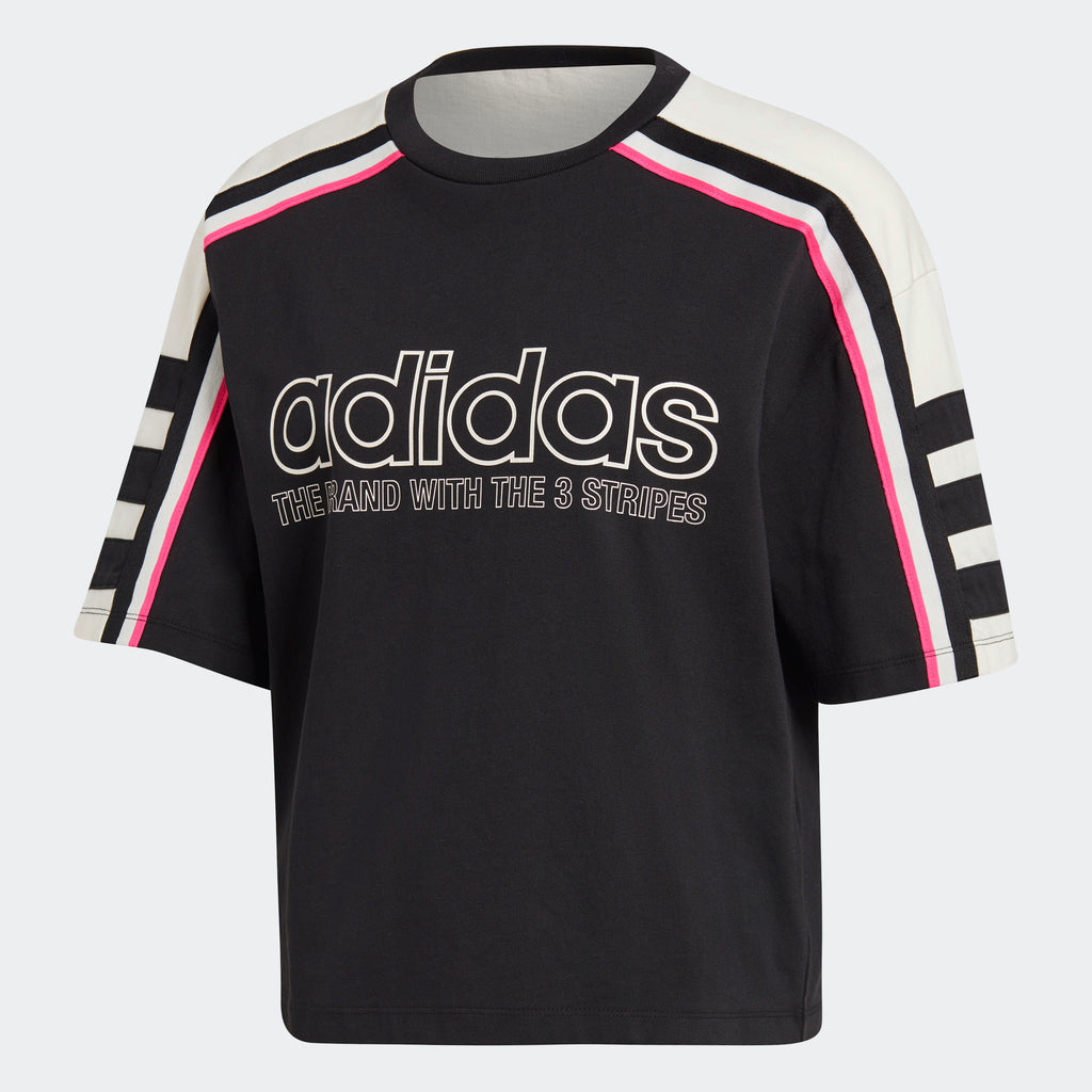 Women's adidas Originals OG Tee Motocross Black