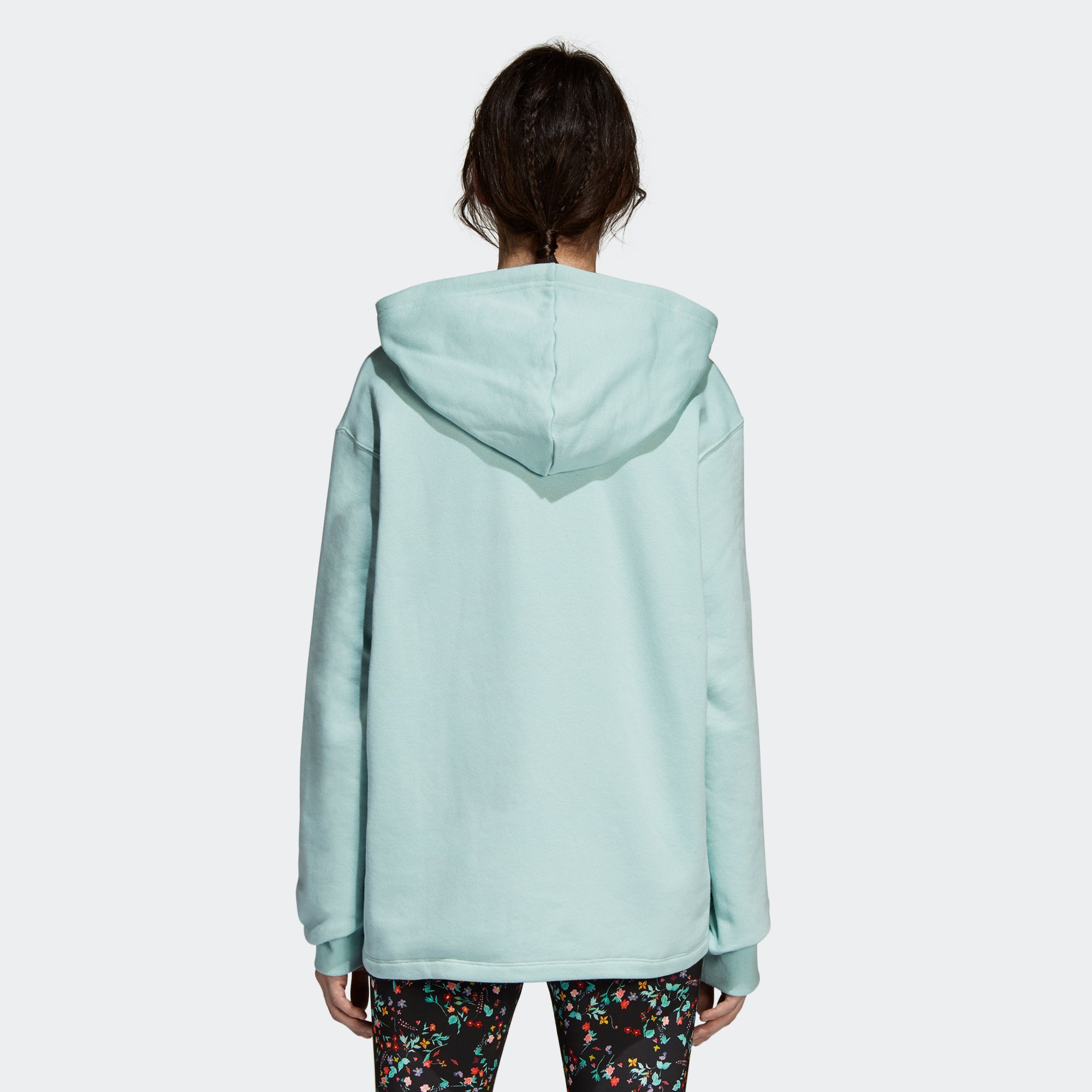 adidas Oversize Hoodie Ash Green DH4256 | Chicago City Sports