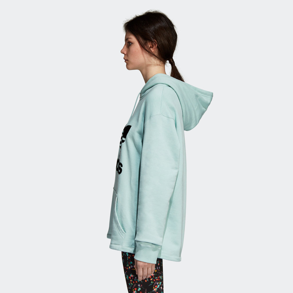 Women's adidas Originals Oversize Hoodie Ash Green