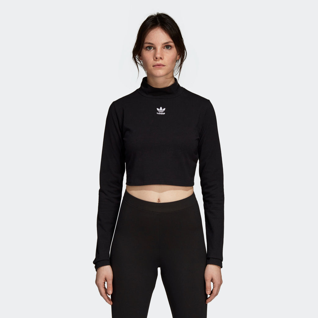 Women's adidas Originals SC Turtleneck Crop Top Black