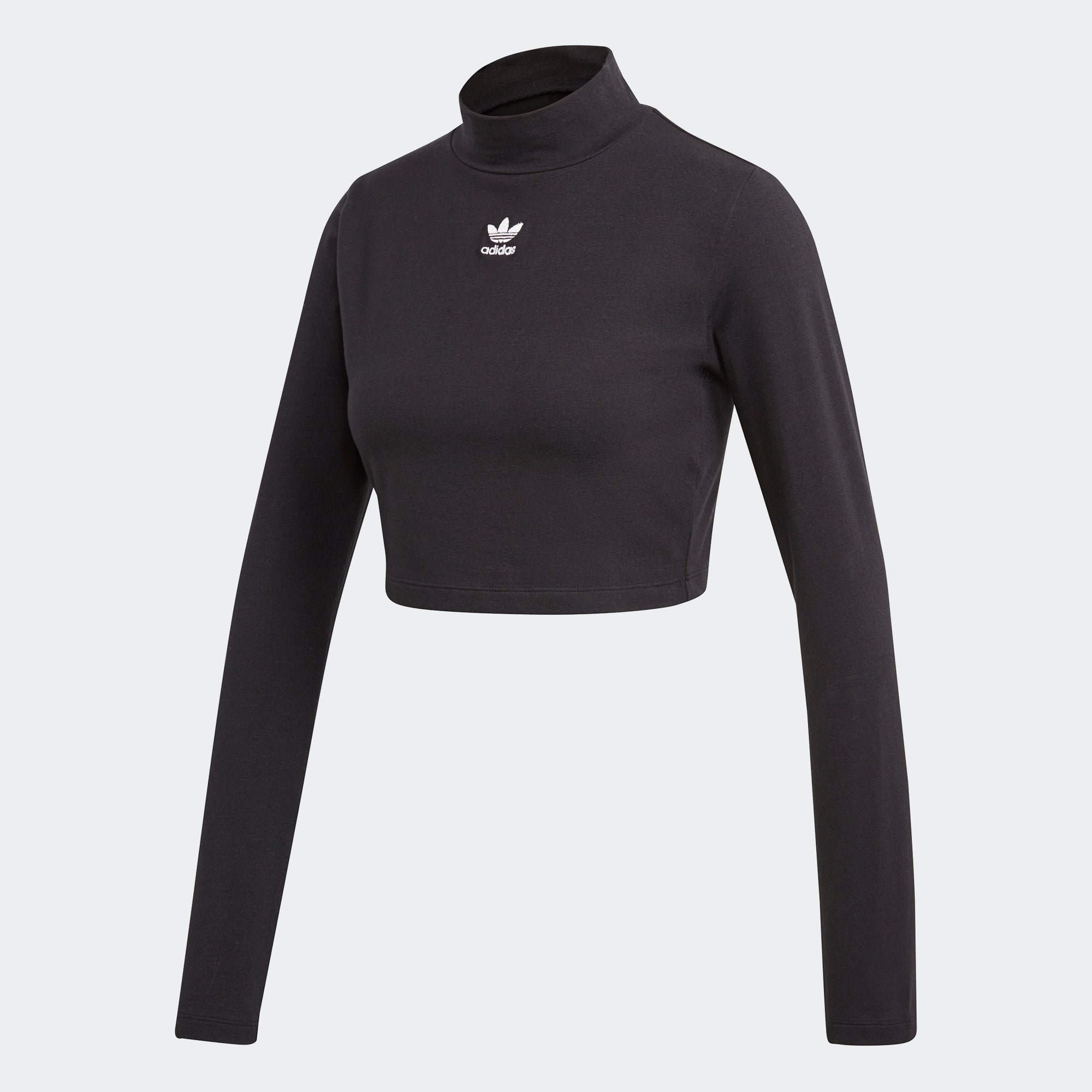 f9dd630a37af Women s adidas Originals SC Turtleneck Crop Top Black