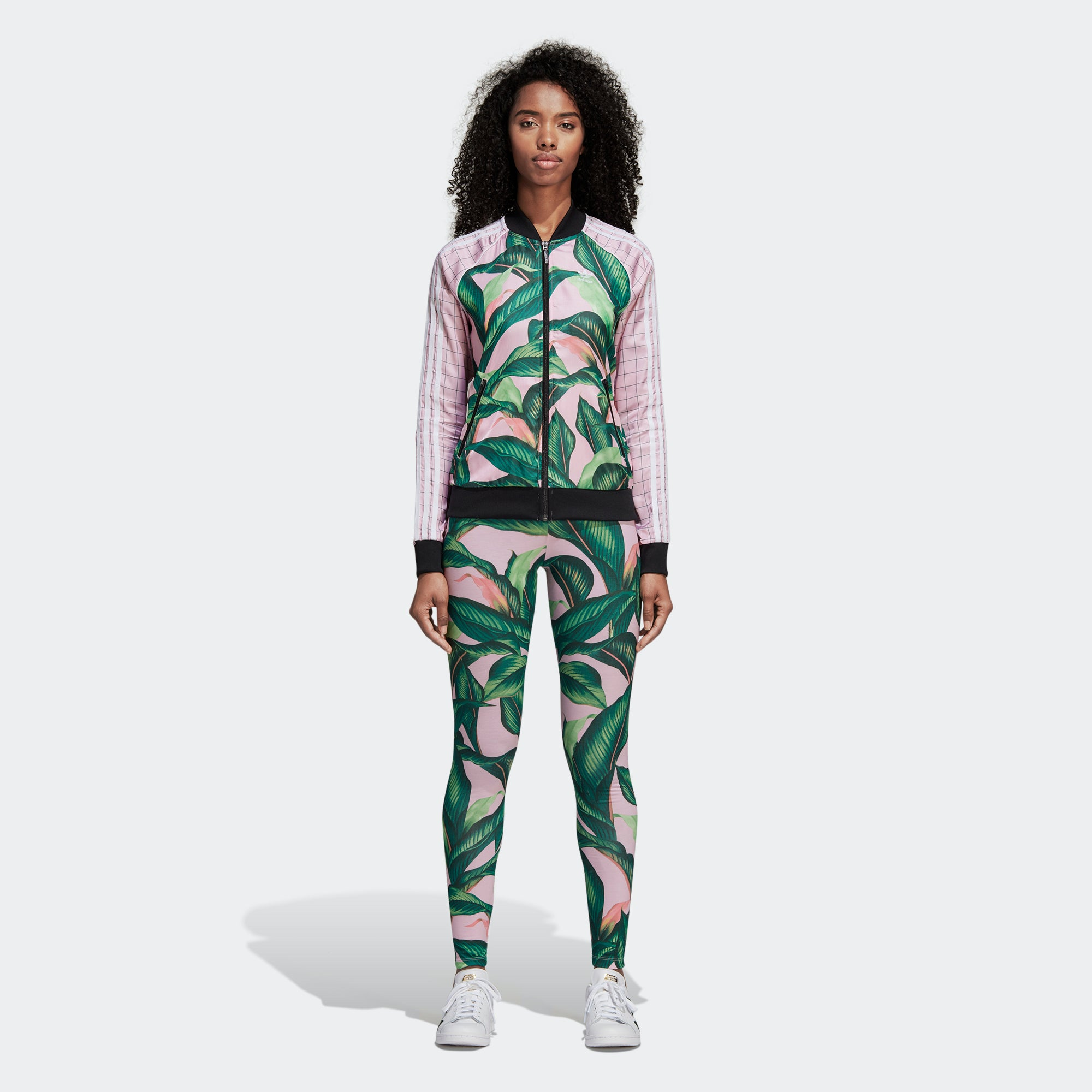 1797b1820db9 Women s Adidas Originals SST Track Jacket Tropical Pink Green DH3071 ...