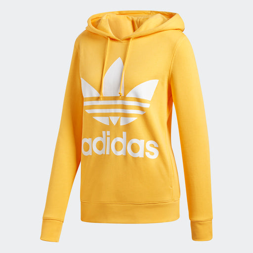 Women's Adidas Originals Trefoil Hoodie Chalk Orange