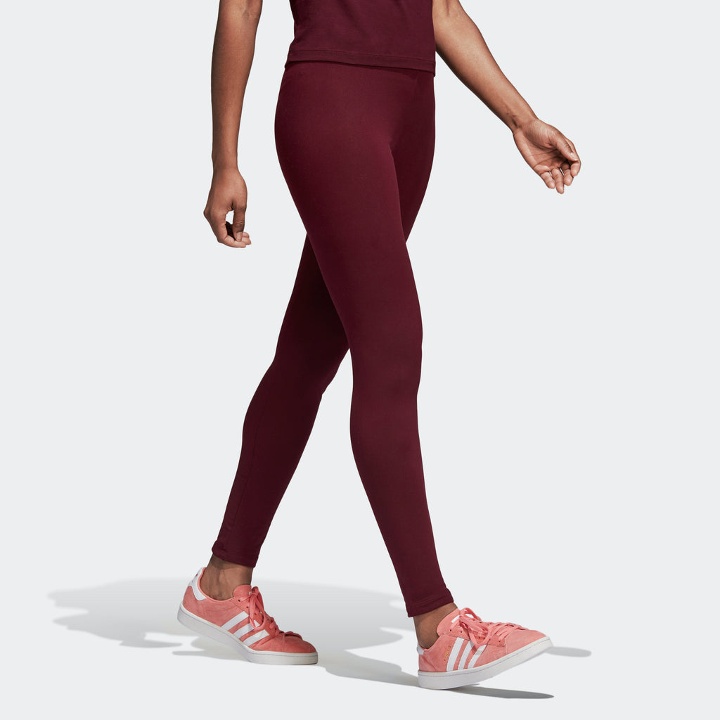 Women's adidas Originals Trefoil Leggings Maroon