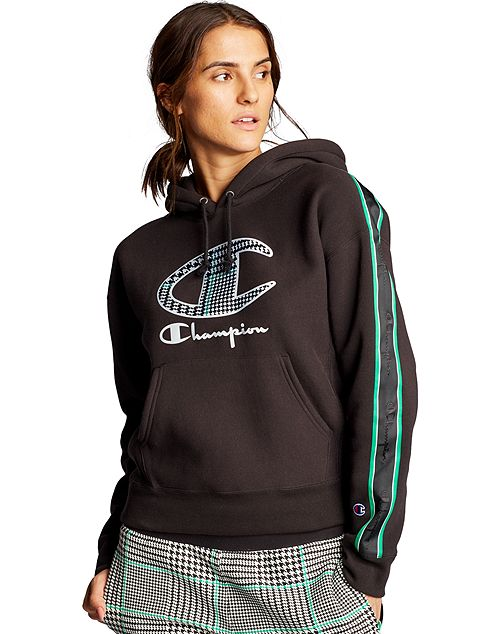 Women's Champion Life Hoodie Houndstooth Logo